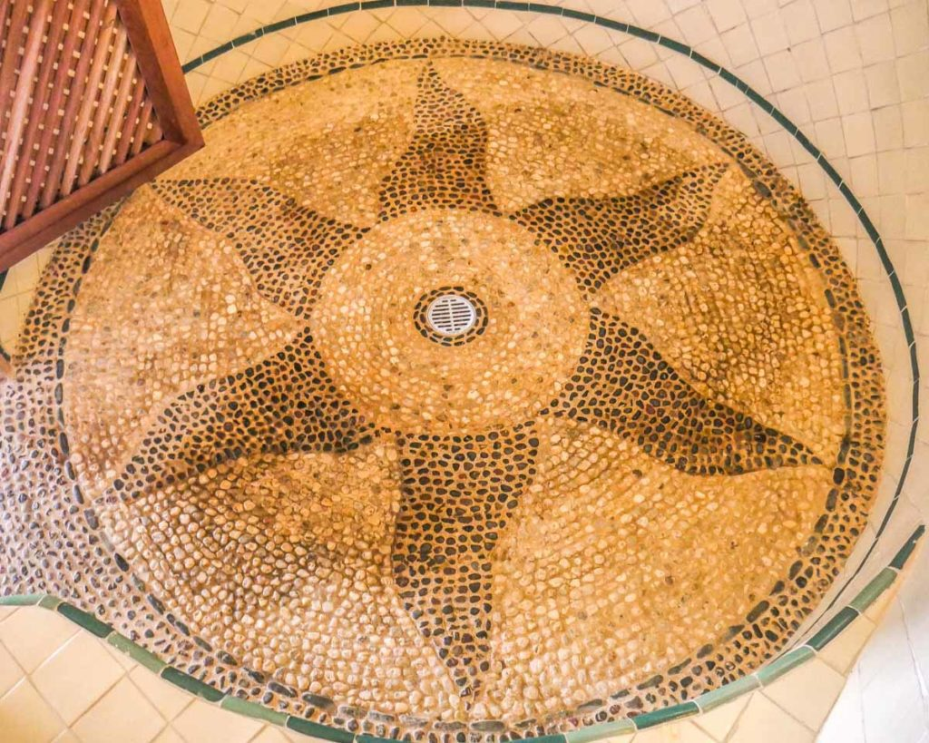 shower floor mosaic at zazil retreat