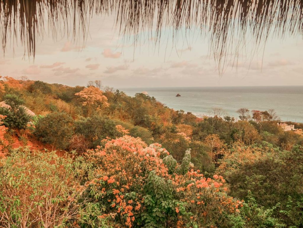 view from zazil retreat san agustinillo