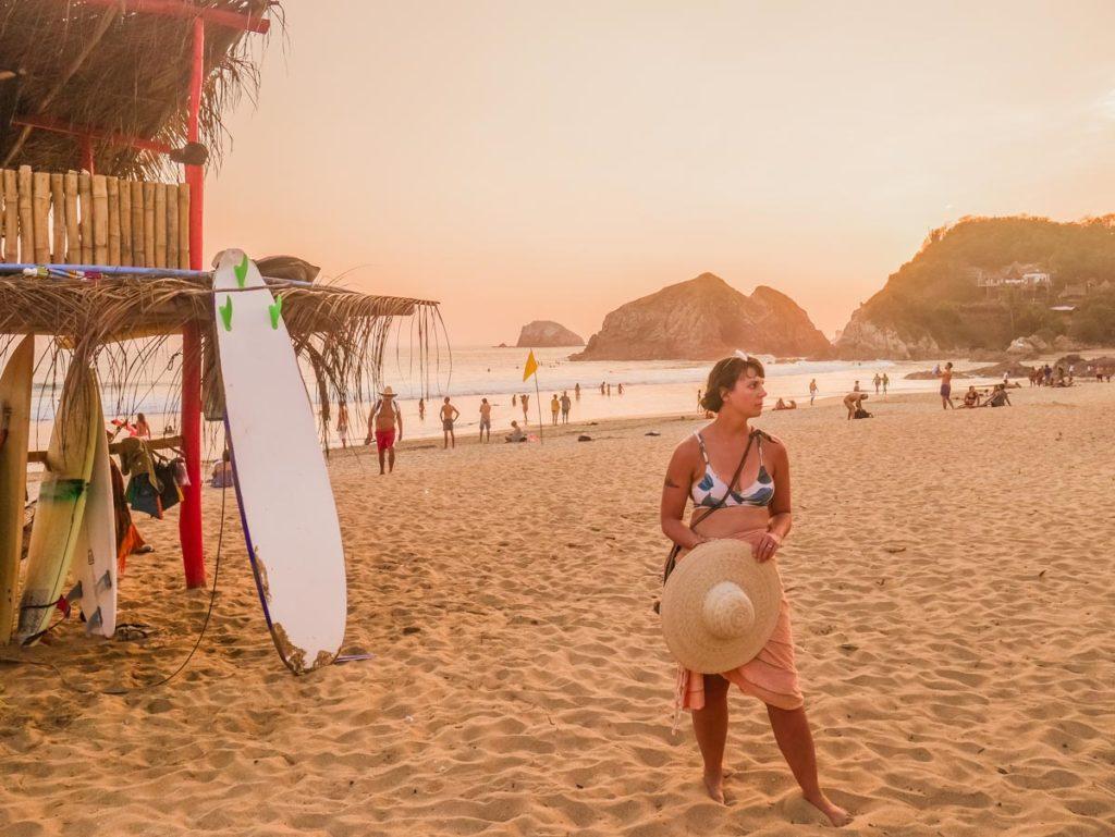 zipolite beach sunset san agustinillo mazunte oaxaca guide