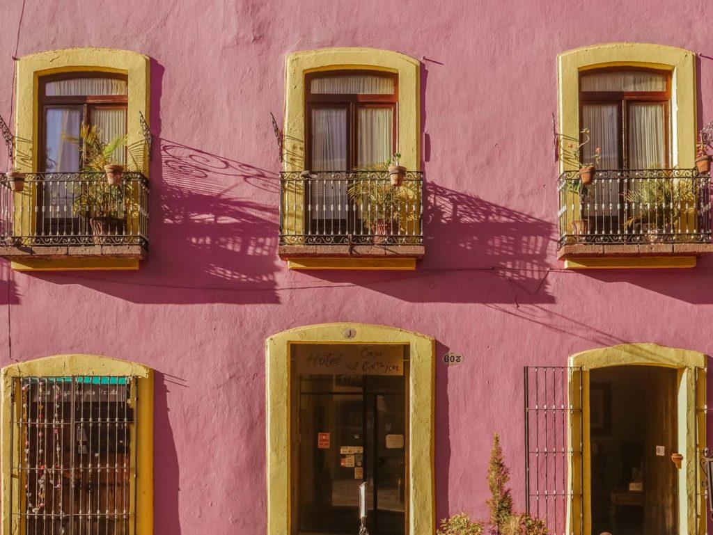puebla travel colorful buildings