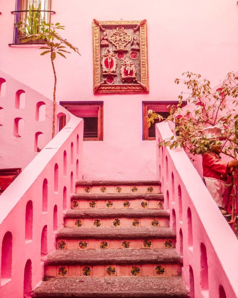 staircase at meson sacristia de la compania