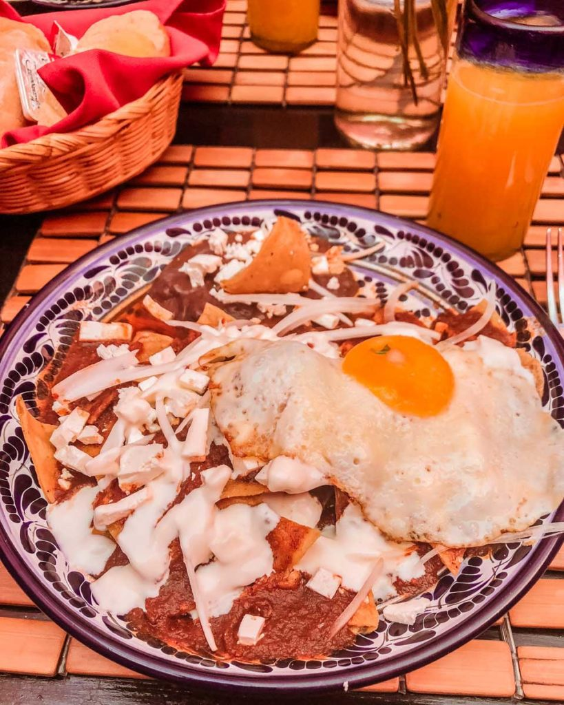 things to do in puebla eat chilaquiles at meson sacristia