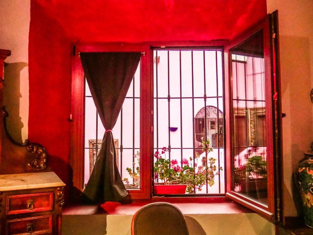 window in room meson sacristia puebla hotel