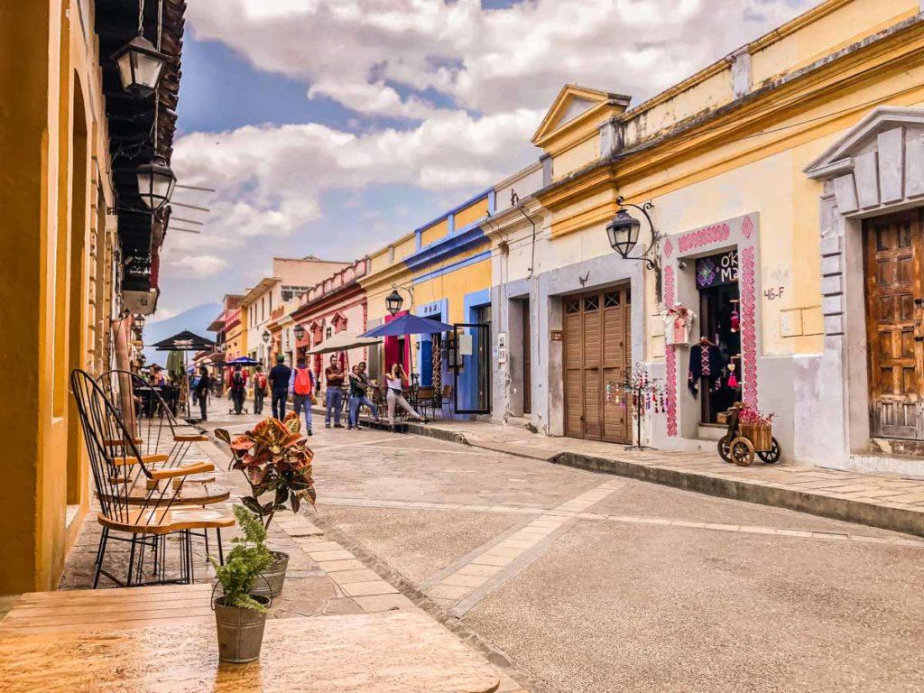 street scene in san cristobal de las casas chiapas