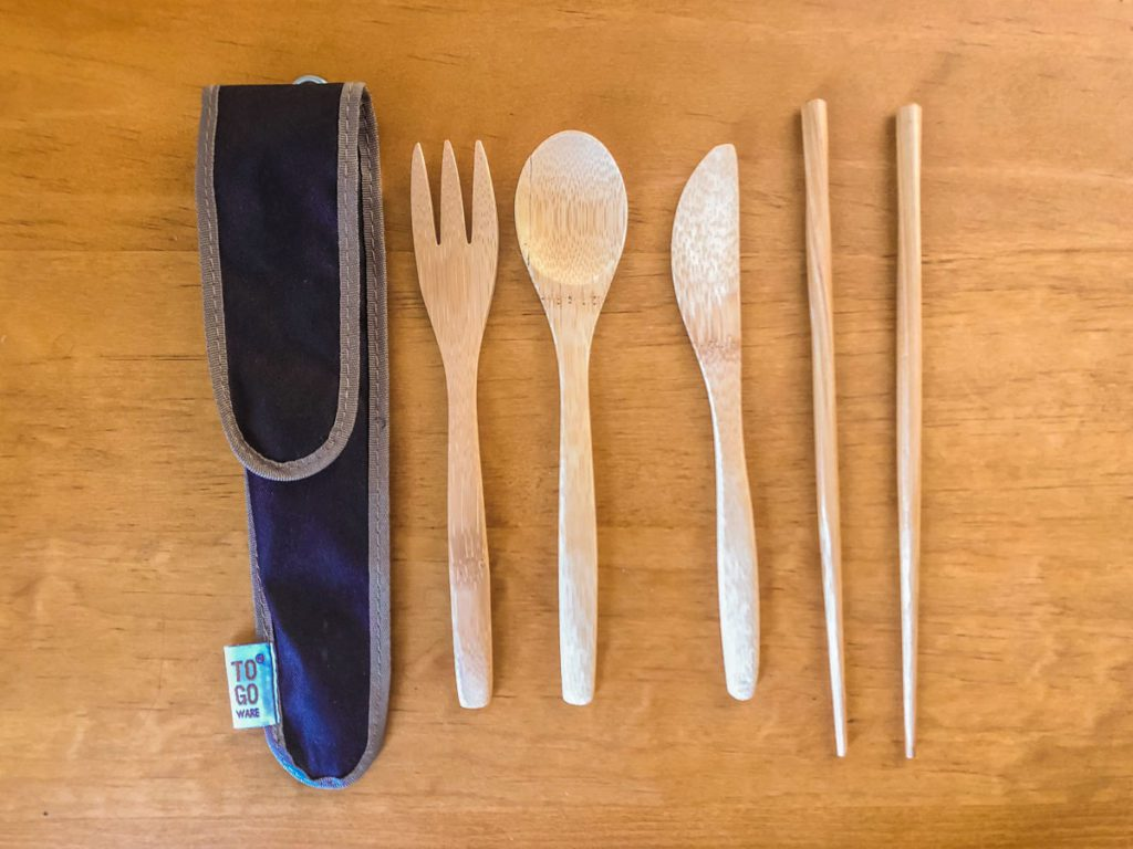 bamboo utensil set to go ware