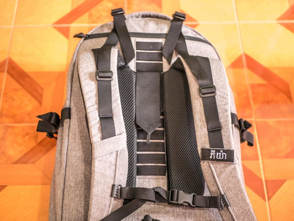 ethical backpack with quality straps