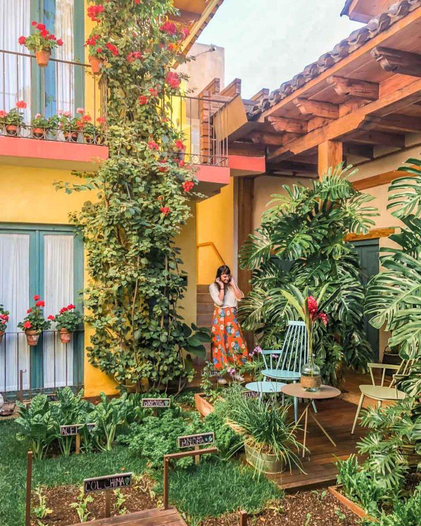 hotel san cristobal chiapas leafy courtyard