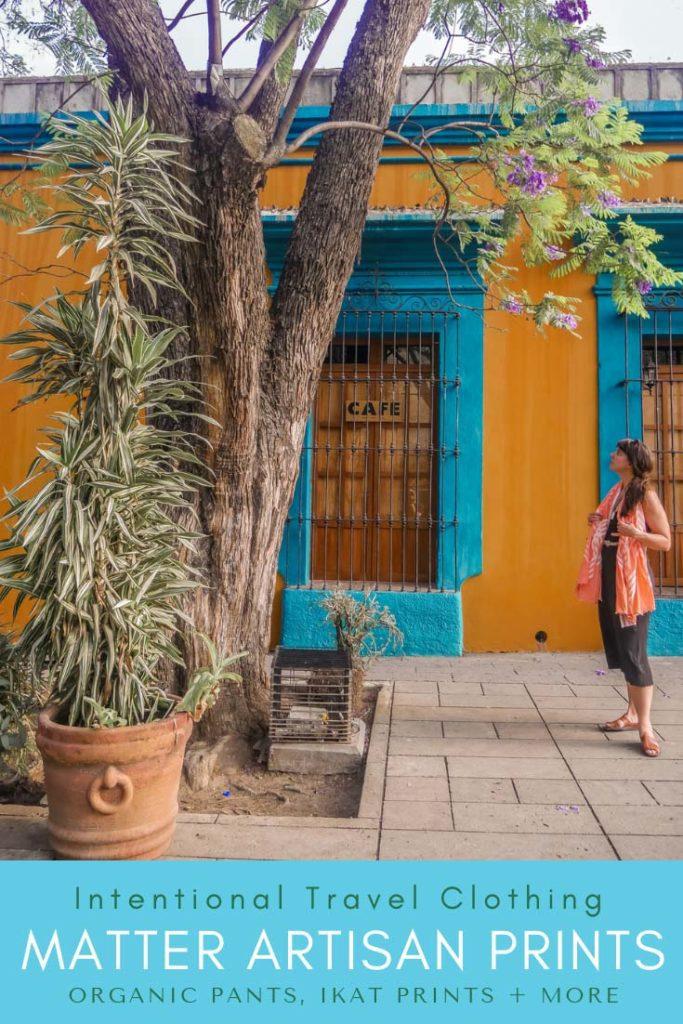 intentional travel clothing_ artisan prints, organic pants, ikat prints pinterest 2LR