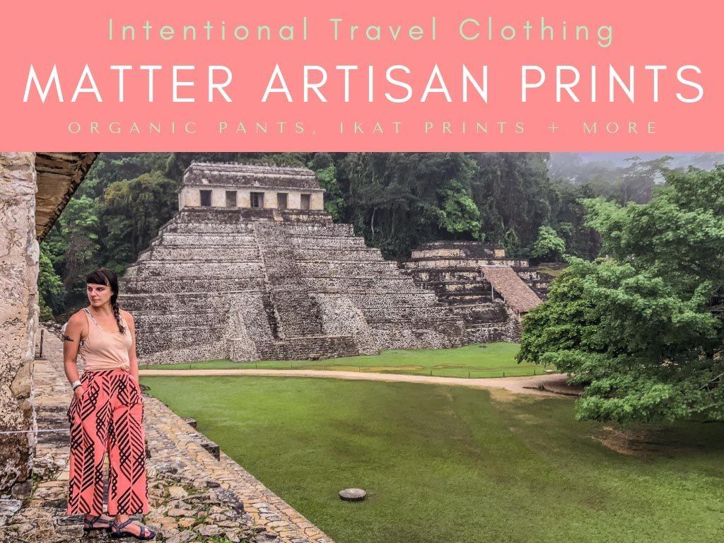 intentional travel clothing_ artisan prints, organic pants, ikat printsLR