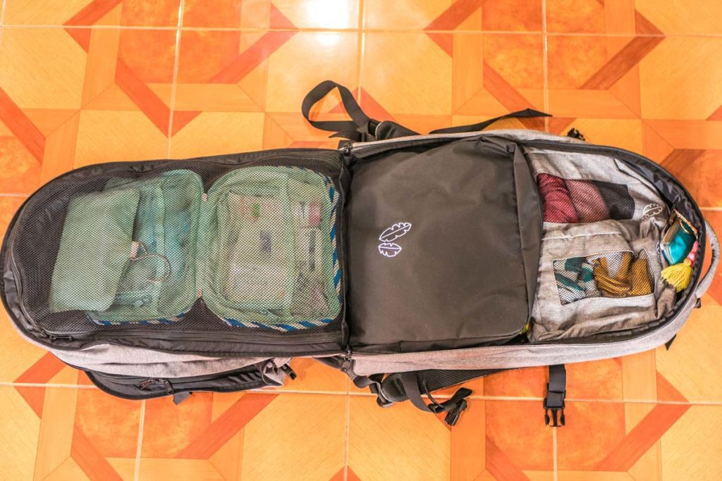 organized backpack 60L