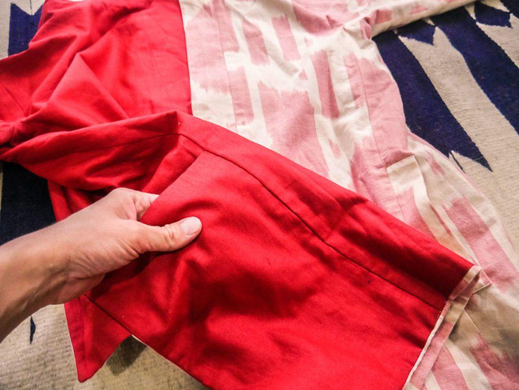 printed jacket reversible kimono matter