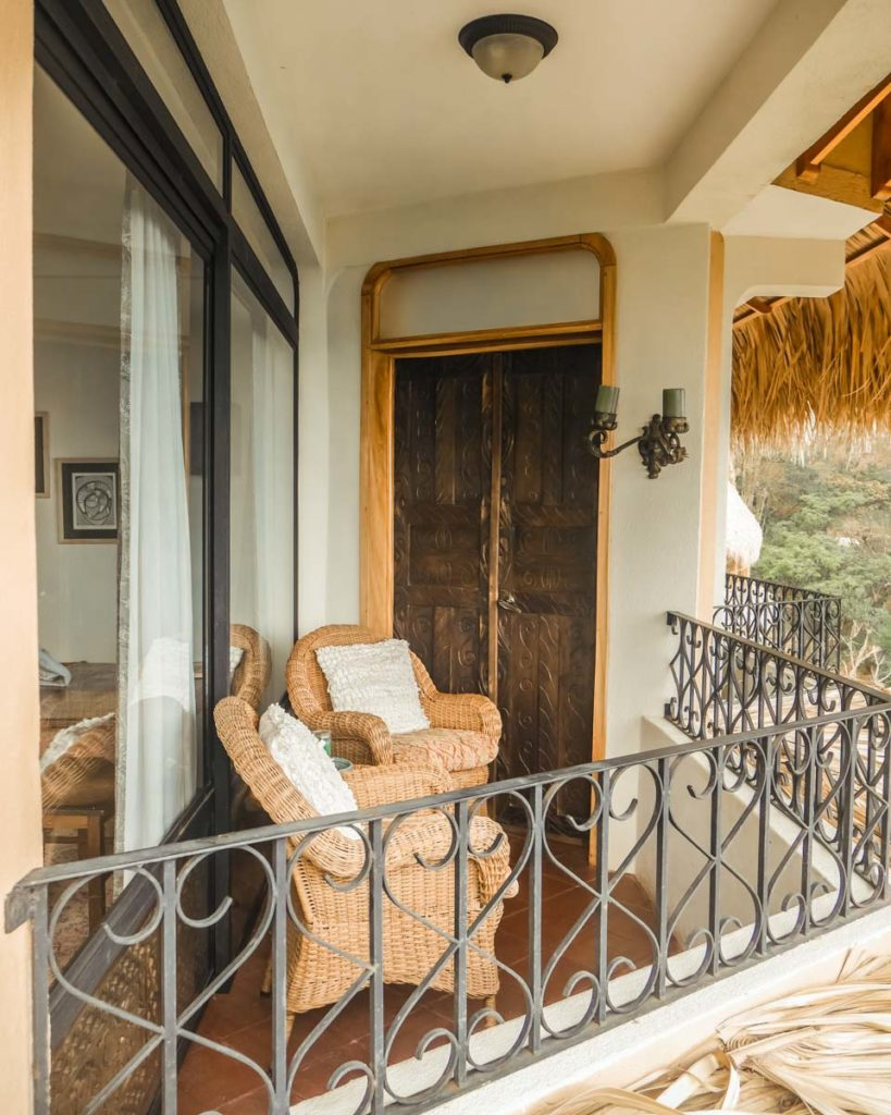 private balcony of room at villa sumaya