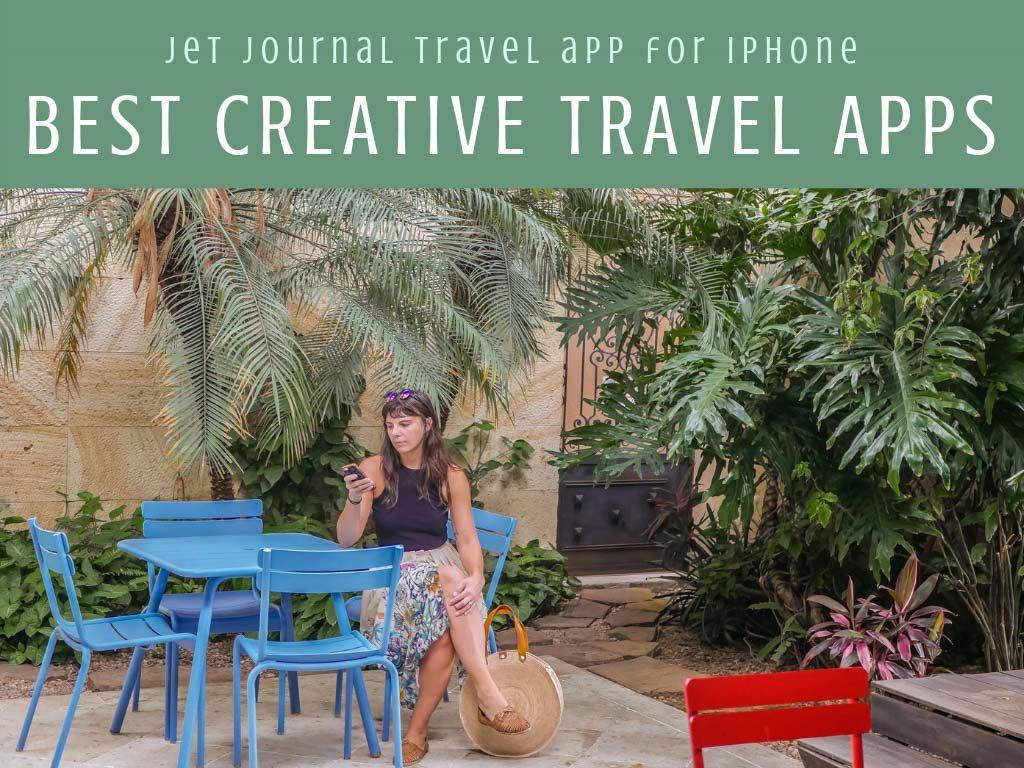 Best creative apps for travel, jet journal travel app for iphone headerLR