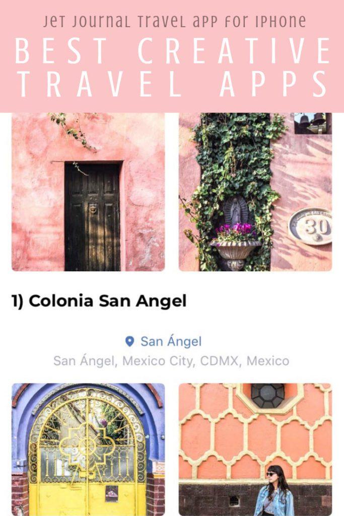 Best creative apps for travel, jet journal travel app for iphone pinterest 4LR