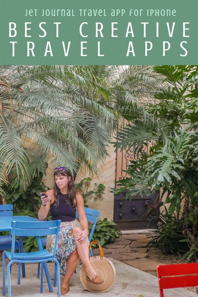 Best creative apps for travel, jet journal travel app for iphone pinterestLR