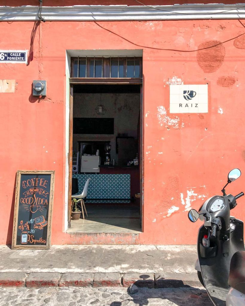 coffee shops in antigua