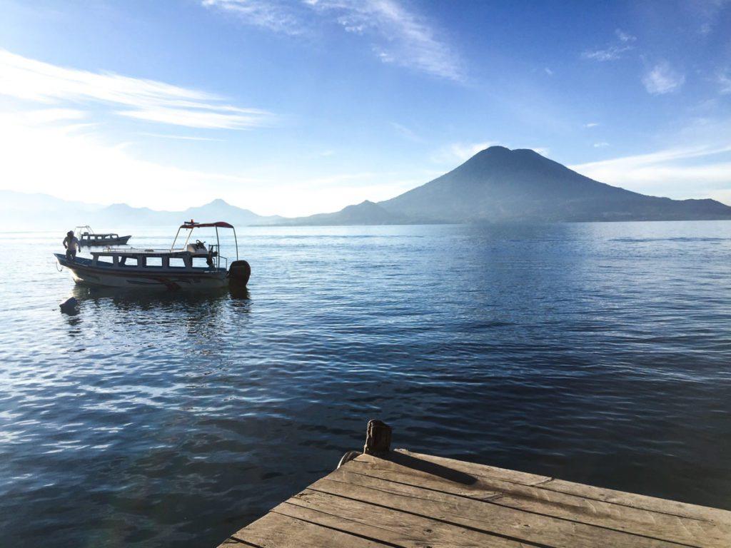 guatemala lake atitlan boat