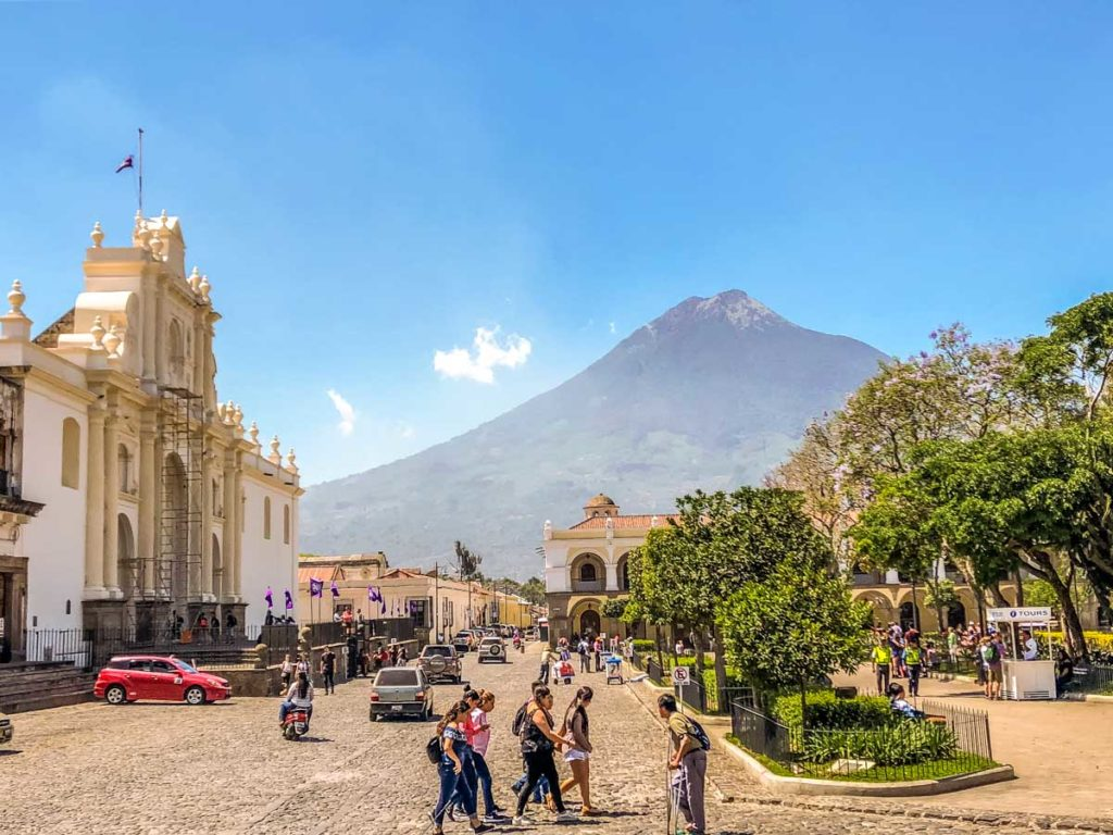 parque central in antigua guatemala