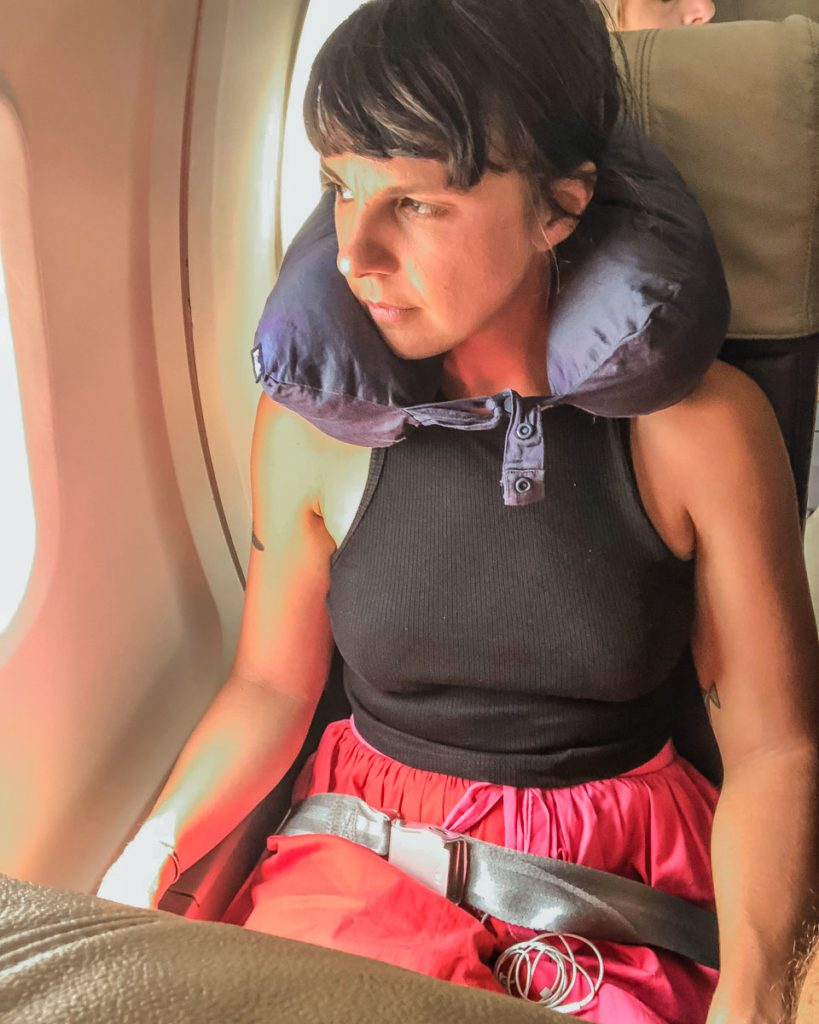 travel pillow review travel blue dream pillow on a plane