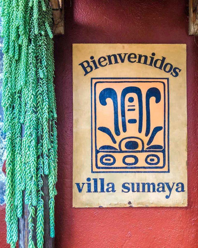villa sumaya welcome sign lake atitlan hotels