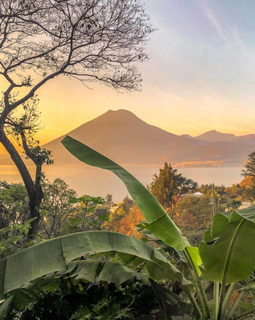 volcano view from san marcos airbnb lake atitlan