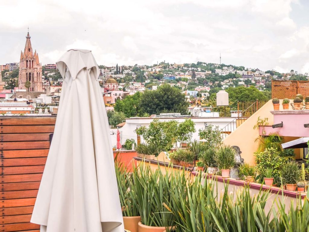 roof terrace view of san miguel de allende