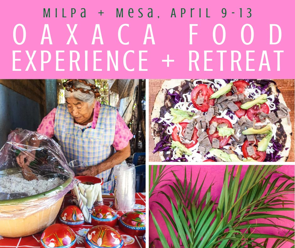 POSTPONED (see below for waitlist) - Milpa + Mesa April 2020 Retreat: Oaxaca Food Tour Experience