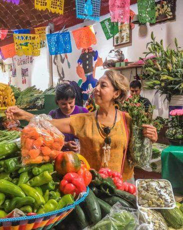 cooking class in oaxaca market