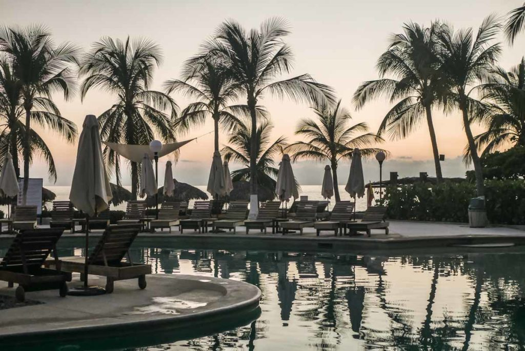 villasol beach club sunset