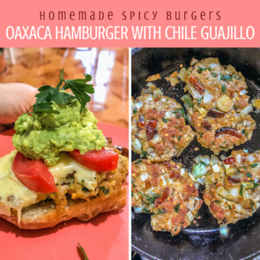 Copy of homemade spicy burgers, oaxaca style with chile guajillo copy