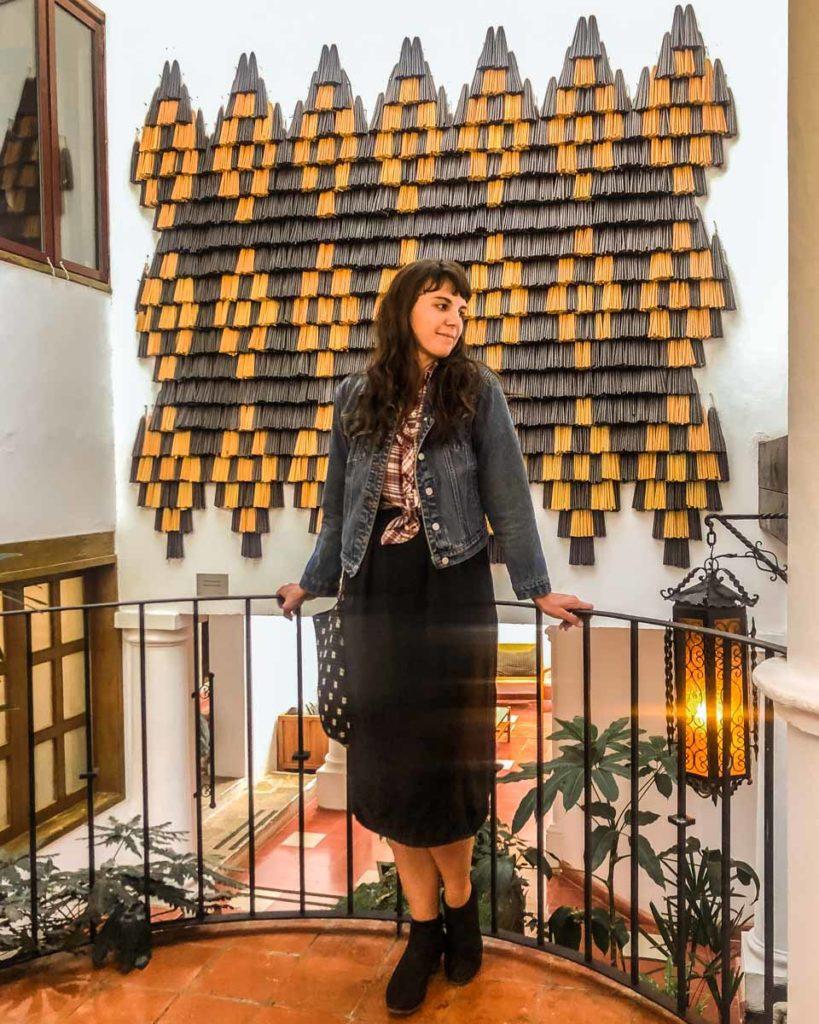 art installation at hotel in san cristobal