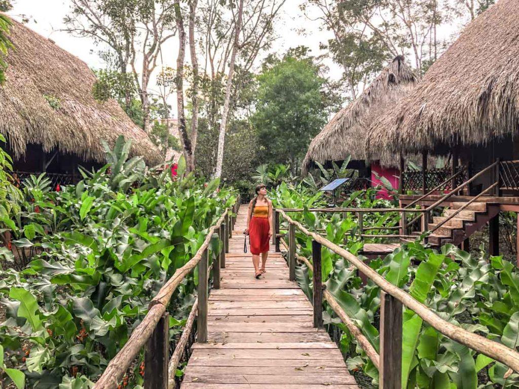 hotel las guacamayas leafy grounds