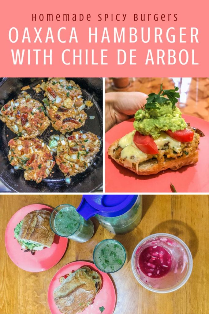 Copy of Copy of Copy of homemade spicy burgers, oaxaca style with chile arbolLR