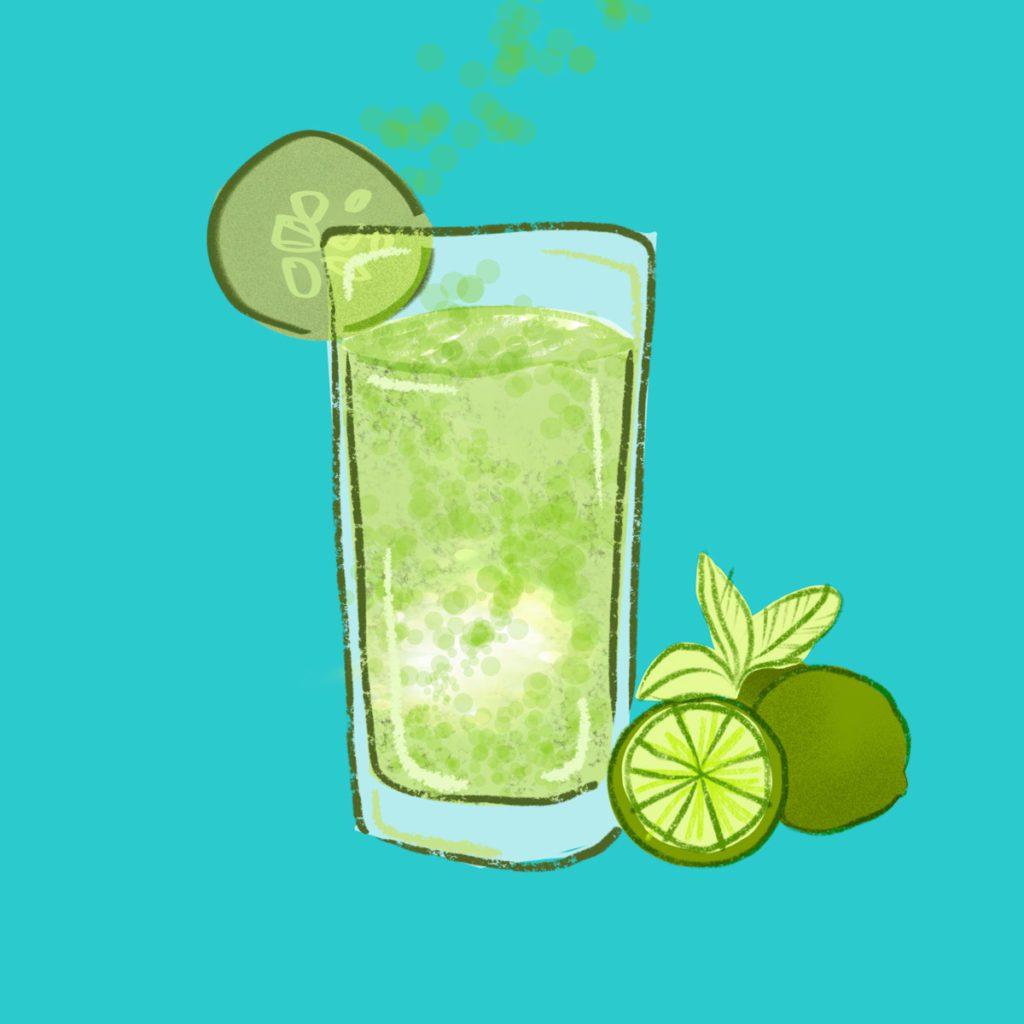 agua de pepino con chia copyLR