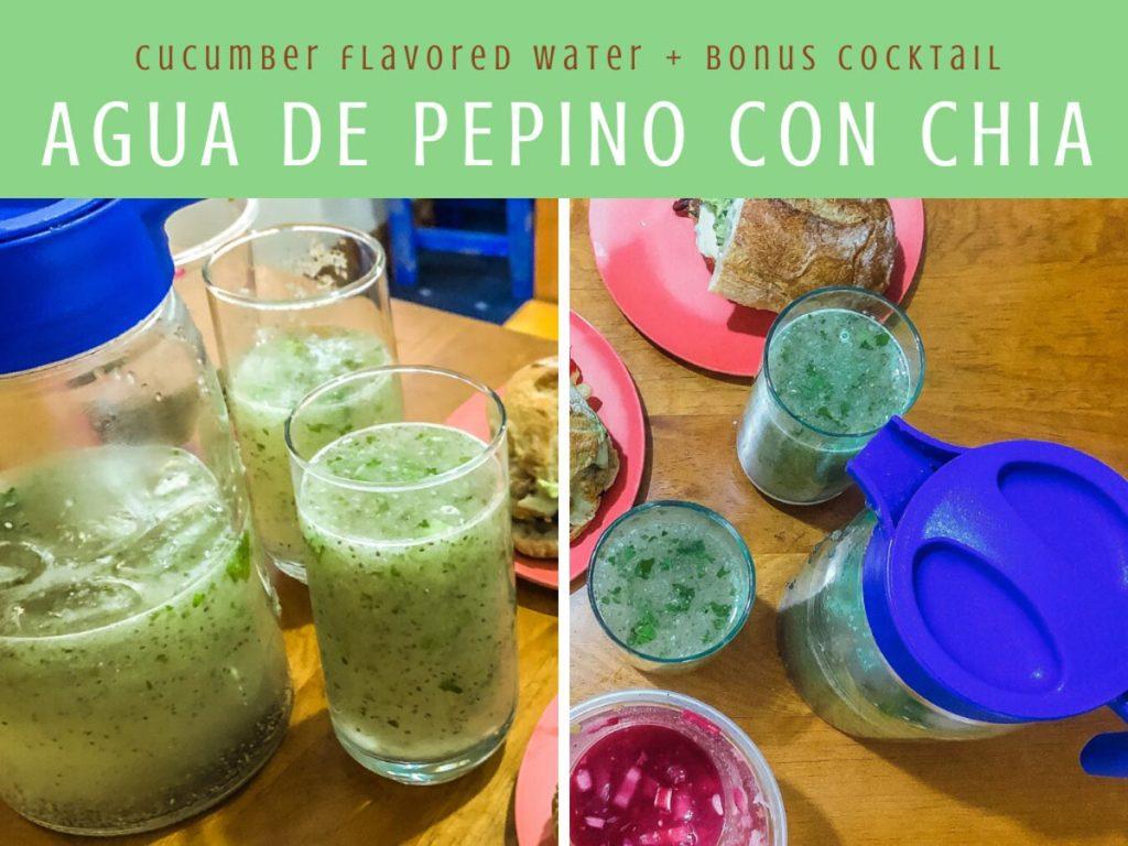 agua de pepino con chia cucumber flavored water recipe