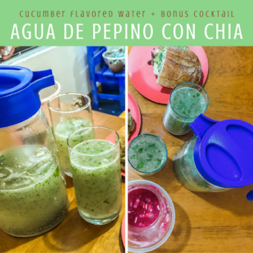 agua de pepino con chia cucumber flavored water recipe thumb