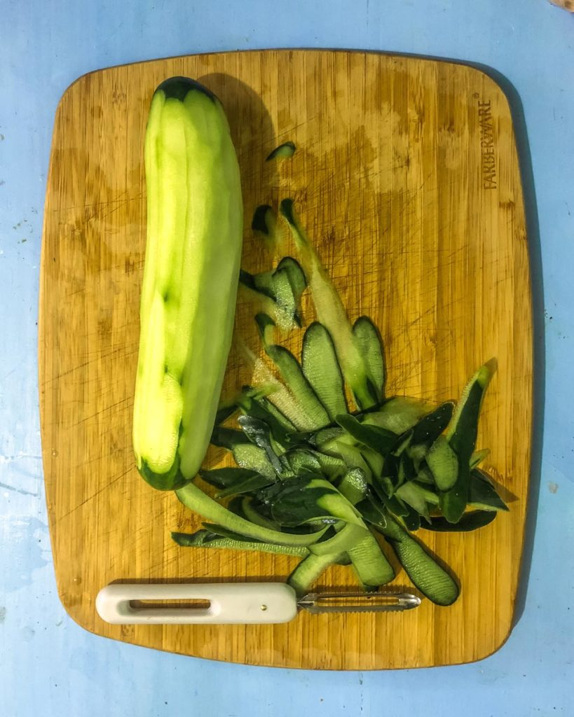 cucumber flavored water step by step