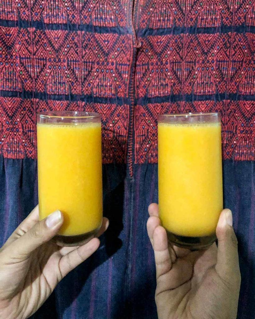 spicy mezcal cocktails with mango frozen