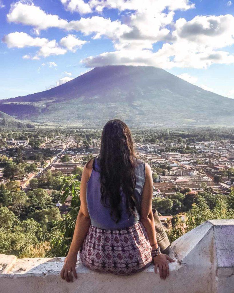 cerro de la cruz view antigua guatemala