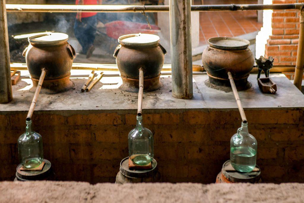 distilling mezcal in oaxaca