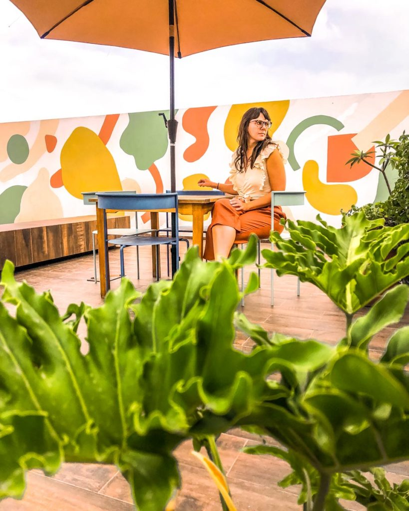 where to stay in mexico city colorful rooftop